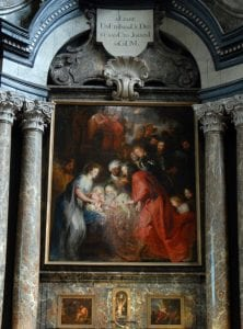 """Detalle de la """"Adoración de los Magos"""" de Rubens"""