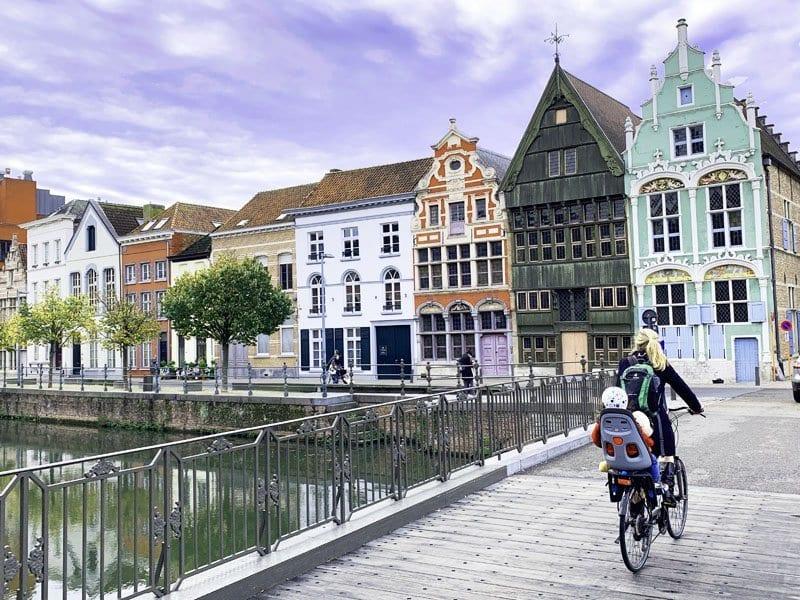 Las casas de Haverwerf, la foto más típica de Malinas