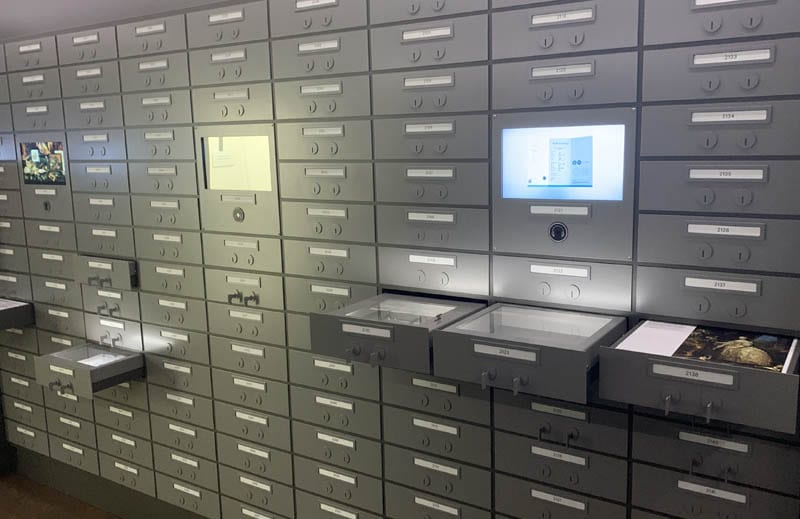 La sala de las curiosidades del DIVA parece una caja fuerte