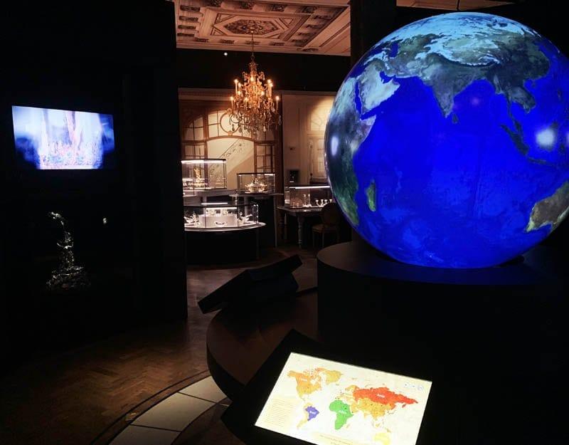 Sala dedicada a la historia del diamante en DIVA