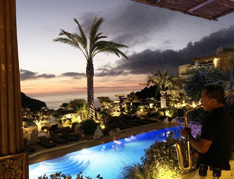 Vistas desde el chill out del hotel Na Xamena de Ibiza