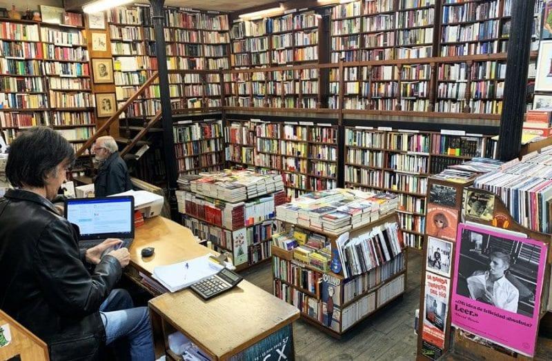 Interior de la Libreria Paradiso