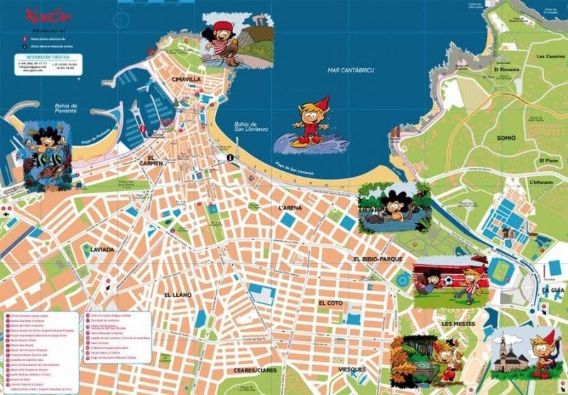 El plano para niños de Gijón va en muchos envíos