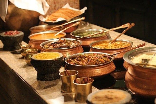 La comida en La India suele ser muy picante