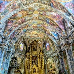 Detalle de los frescos de San Nicolás