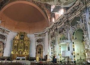 El interior de los Santos Juanes en proceso de restauración