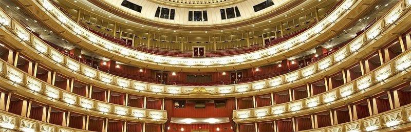 Interior de la opera de Viena