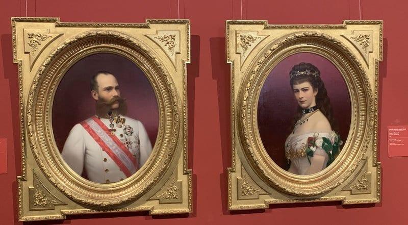 Retrato de Francisco José de Austria y su esposa Sissi