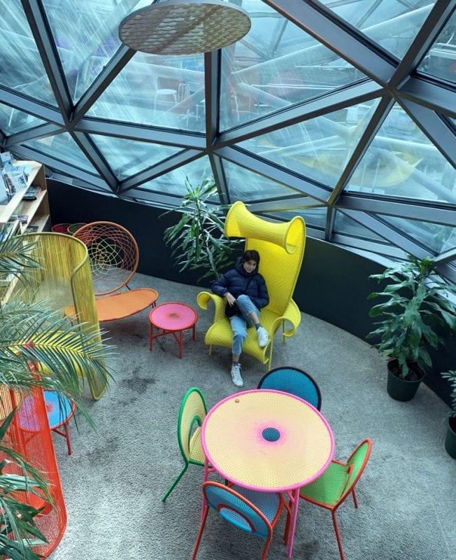 La isla Murinsel acoge un café de diseño