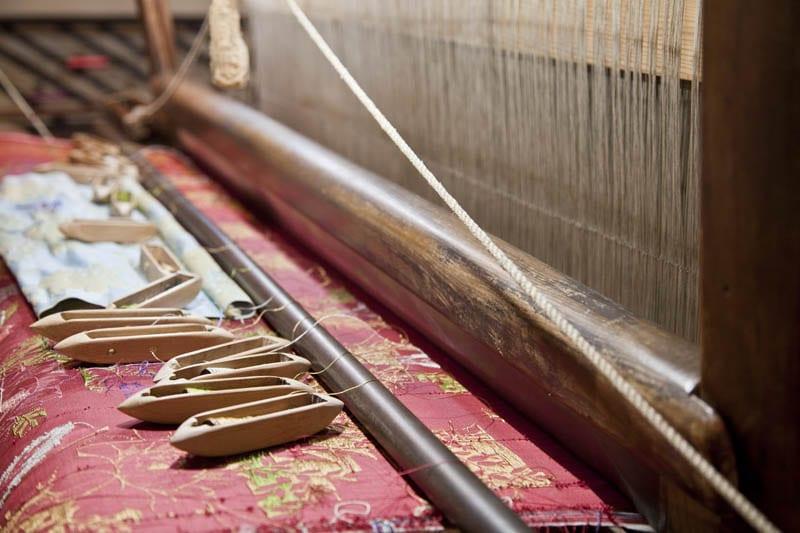 Detalle de un telar de seda en el Museo de Valencia