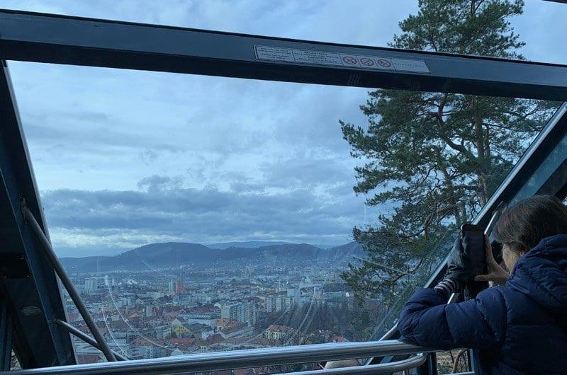 Panorámica de Graz desde el funicular