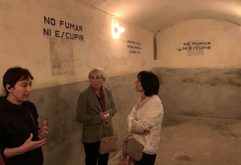 Interior del refugio hallado en Bombas Gens