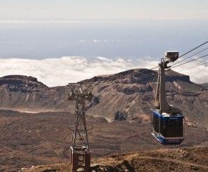 Puedes llegar en teleférico casi hasta la cima de El Teide