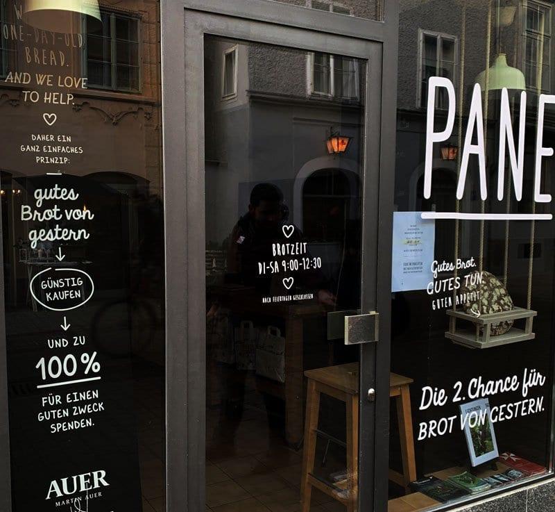 Panadería donde venden pan del día anterior