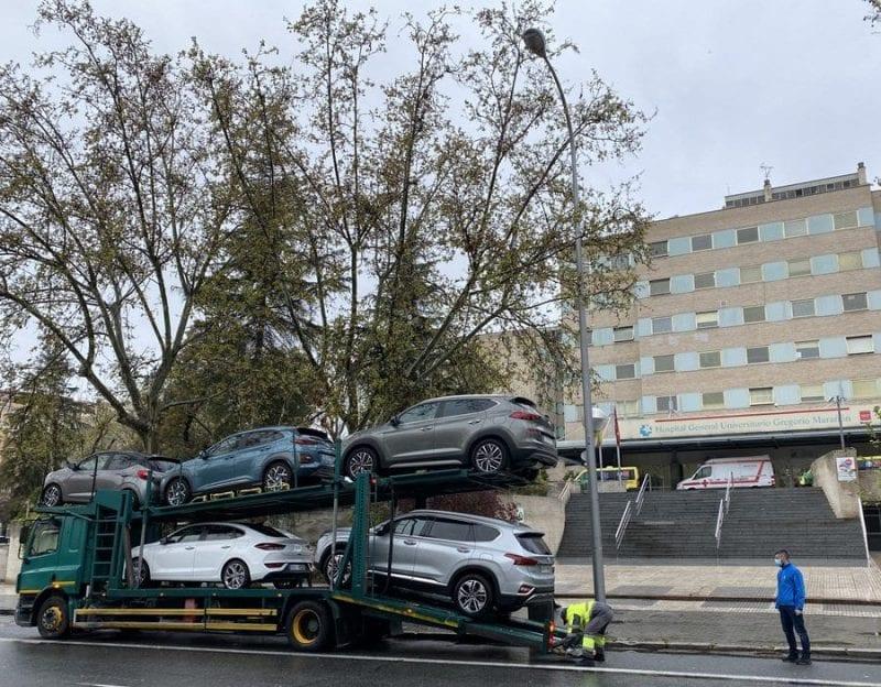 El Hospital de la Paz, el  Gregorio Marañón y el Ramón y Cajal ya tienen coches de Hyundai