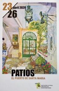 cartel de la fiesta de los patios portuenses de 2020