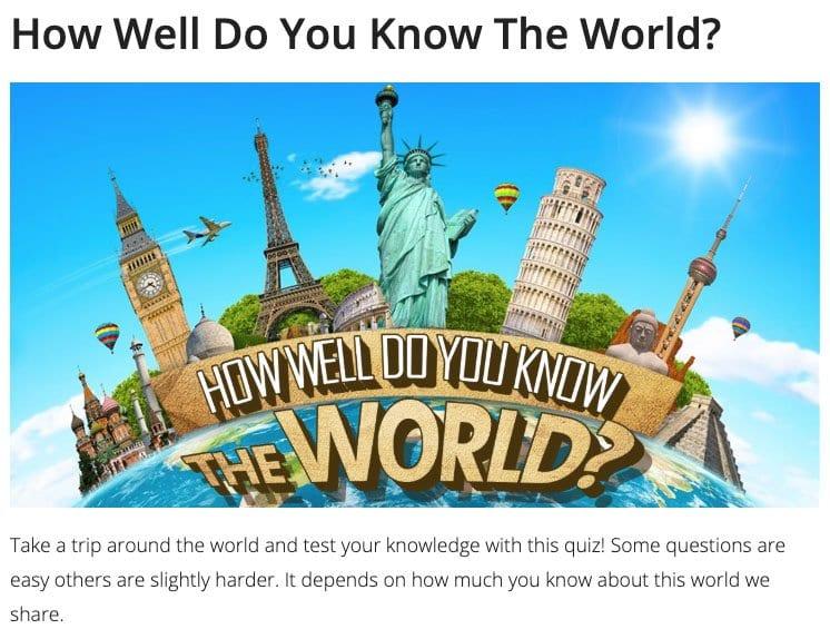 Juego ¿Conoces bien el mundo?
