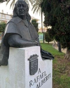 Escultura de Rafael Alberti