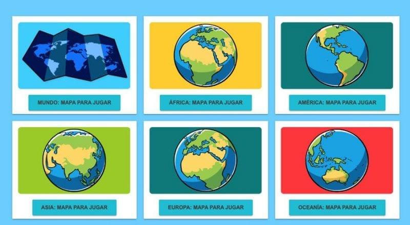 """Captura de la web """"juegos geográficos"""""""