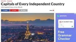 Web con la lista actualizada de las capitales del mundo