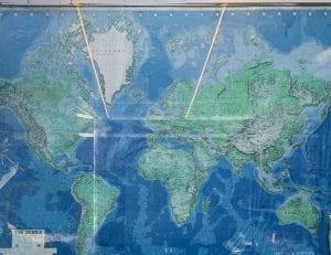 Este mapa está en una pared de mi casa