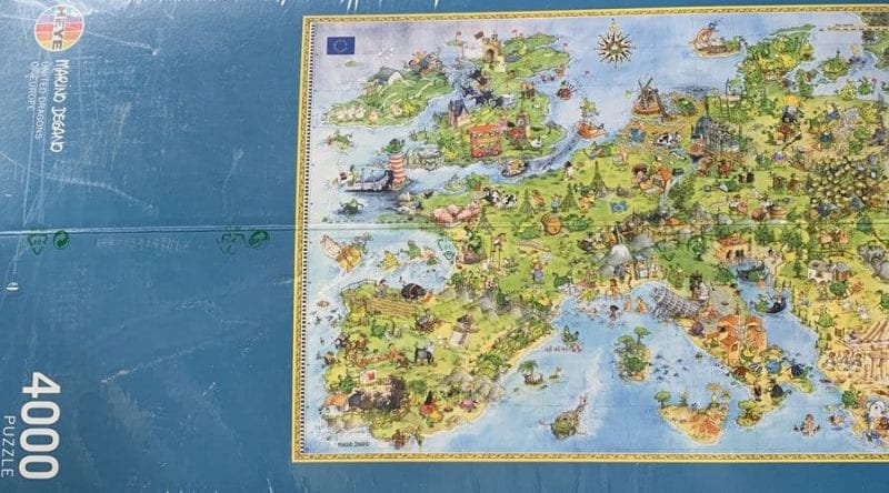 Puzzle del mapa de Europa
