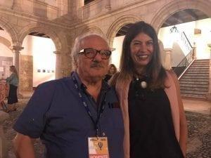 Nani Arenas con Javier Reverte