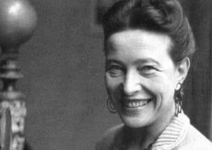 Retrato de Simone de Beauvoir
