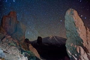 El cielo de Terife es ideal para la observación de estrellas y planetas