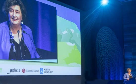Ana Trevisani en su intervención en el congreso de OPC España celebrado en Santiago de Compostela el pasado febrero