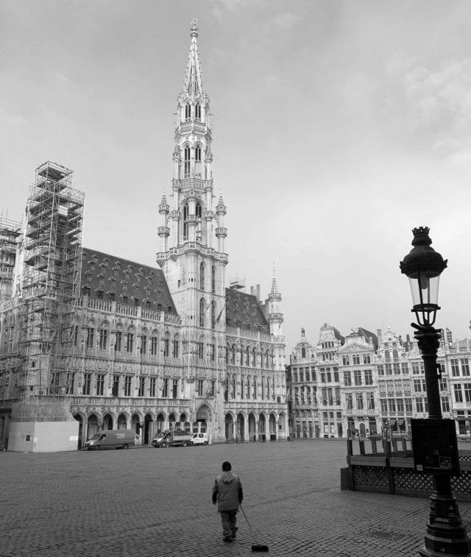 Grand Place de Bruselas durante la pandemia
