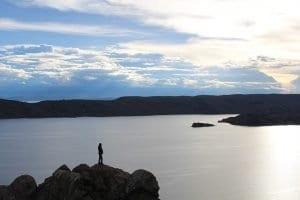 Atardecer en el lago Titicaca