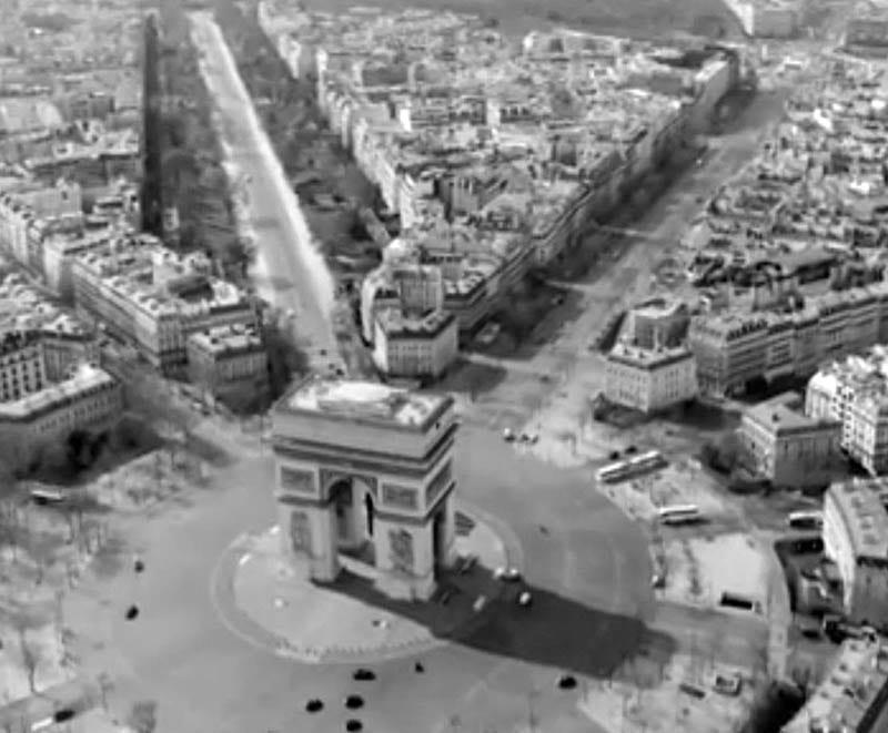 Imagen aérea del Arco de Triunfo de París