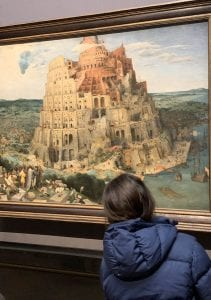 La Torre de Babel de Bruegel el Viejo en el Museo de Historia del Arte de Viena.
