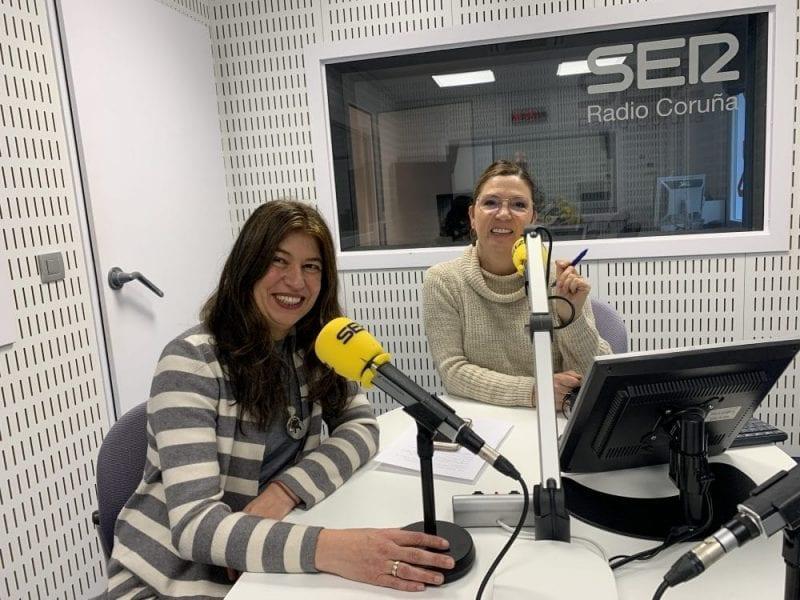 Nani Arenas y Mayte González en Radio Coruña Cadena SER