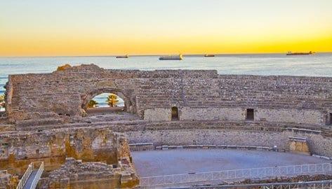 Atardecer desde el anfiteatro de Tarragona