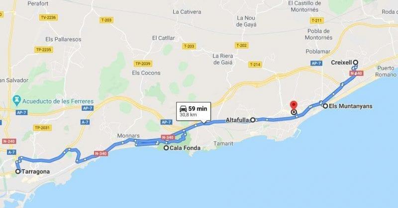 Ruta por los alrededores de Tarragona