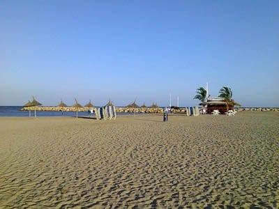 Vistas de las playas de Cambrils