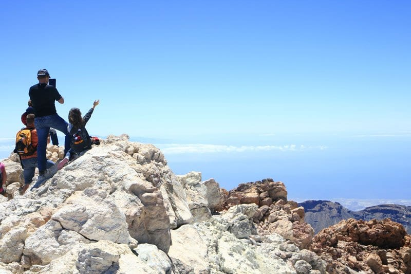 Vistas desde lo alto del Teide