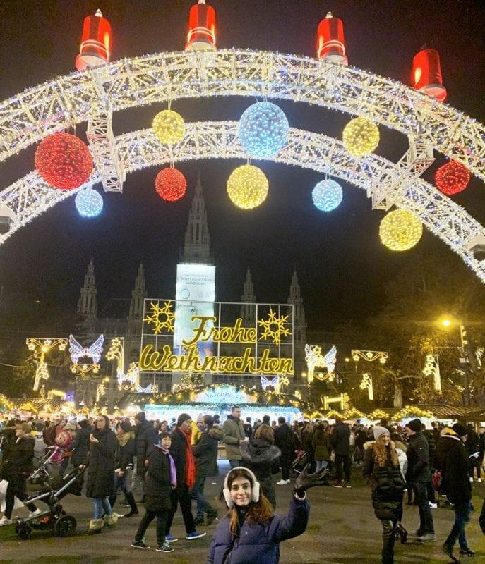El mercadillo de Navidad la plaza del Ayuntamiento de Viena es el más popular