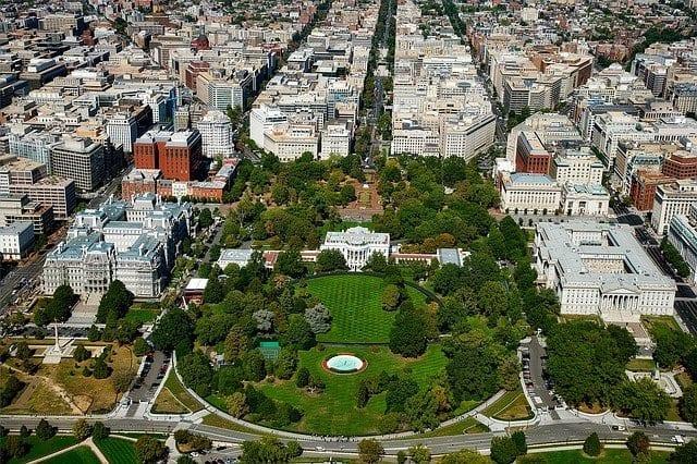 Vista aérea de la Casa Blanca