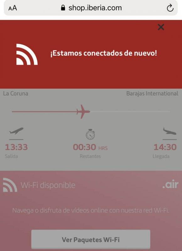 Ya se puede volar en Iberia con wifi a bordo.