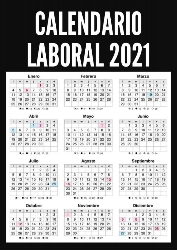 calendario laboral 2021 españa