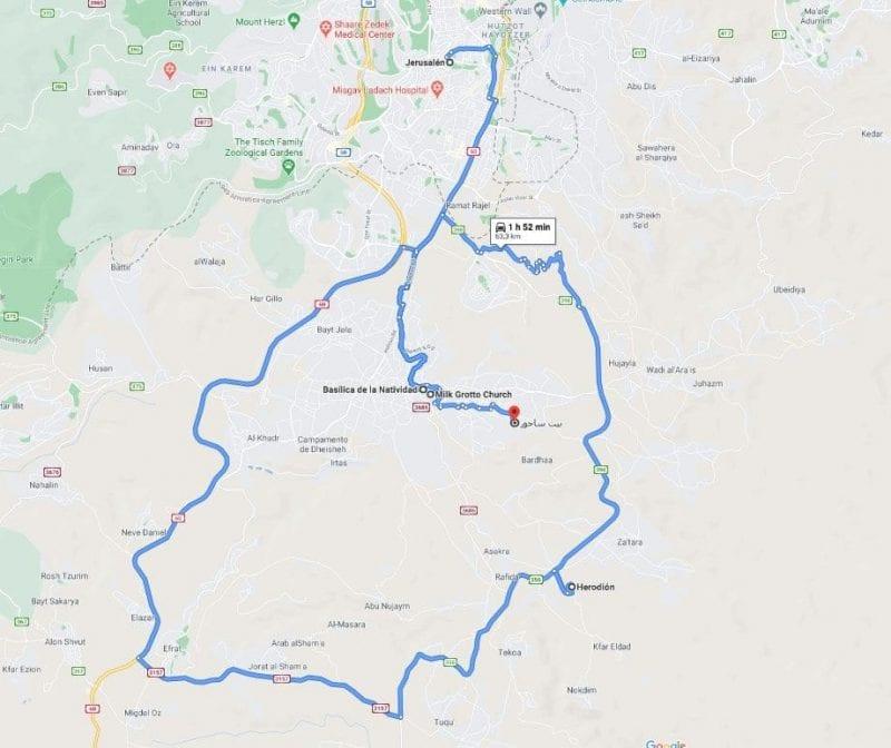 Mapa visitas Belén