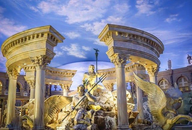Detalle de la ostentosa decoración de Caesars Palace de Las Vegas