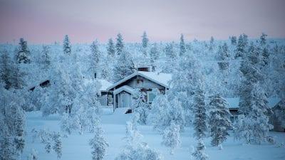 Paisaje de Finlandia en invierno