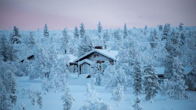 Paisaje nevado finlandia