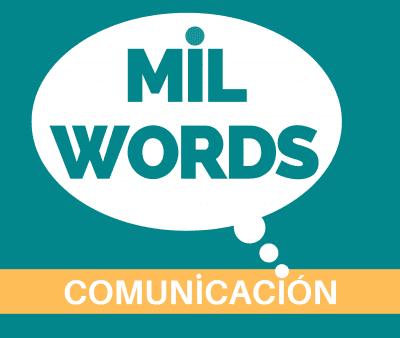 logo mil words comunicacion