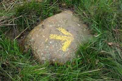 Flecha amarilla camino santiago