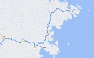 Mapa de como llegar a Cadaques